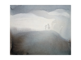 Refreshing World, Two Trees Giclee Print by Yunlan He