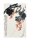 Grapes Giclee Print by Deng Jiafu