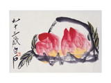 Peaches Giclee Print by Baishi Qi