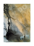 Horses at Leisure Giclee Print by Yunlan He