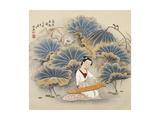 Playing Music by Lotus Pond Lámina giclée por Zhenhua Wang