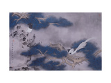 Birds on Pine Tree Giclee Print by Hsi-Tsun Chang