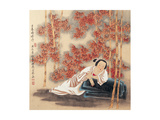 Resting in Bamboo Forests Giclee Print by Zhenhua Wang