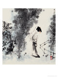 Music and Willow Giclee Print by Zhenhua Wang