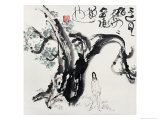 Man and Cypress Giclee Print by Deng Jiafu