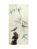 Birds in the Courtyard Giclee Print by Hsi-Tsun Chang
