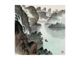 Poetic Li River No. 14 Giclee Print by Zishen Zhang