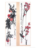 Plum Blossoms and Peaches Giclee Print by Deng Jiafu