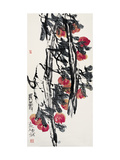 Peaches - Longevity Giclee Print by Deng Jiafu