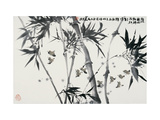 Birds Returning Bamboo Forest Giclee Print by Wanqi Zhang