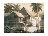 Waterfront Houses Reproduction procédé giclée par Chuankuei Hung