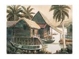 Waterfront Houses Reproduction procédé giclée par Chuankuei Hung