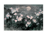 Moon and Lotus Pond Giclee Print by Baogui Zhang