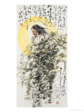 God of Poetry Reproduction proc&#233;d&#233; gicl&#233;e par Deng Jiafu