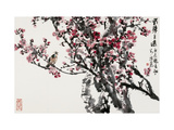 Plum Blossoms and Singing Bird Giclee Print by Wanqi Zhang
