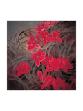 Chinese Hibiscuses Giclee Print by Minrong Wu