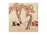 Women on Horses Reproduction procédé giclée par Zhenhua Wang