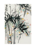 Bamboo in Mist Giclee Print by Wanqi Zhang