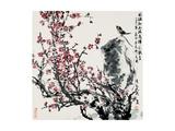 Wanqi Zhang - Cherry Blossoms and Bird - Giclee Baskı