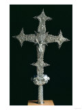 Processional Cross, Marked Noe M.Guenca, circa 1575-1600 (Silver Parcel Gilt on a Wooden Base) Giclée-Druck