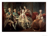 The Penthievre Family or the Cup of Chocolate, 1768 Impressão giclée por Jean Baptiste Charpentier