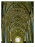 View of the Central Nave Showing the Vaults and West Rose Window, Manueline Gothic, 16th Giclee Print