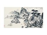 Prosperous Pine Woods Giclee Print by Yongsun Huang