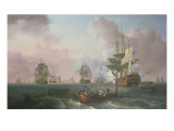 The Battle of the Nile - Bridgeman Collection Stampa giclée di William Anderson