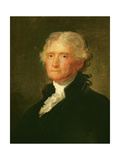 Thomas Jefferson (1743-1826) Third President of the United States of America (1801-1809) Impressão giclée por George Peter Alexander Healy