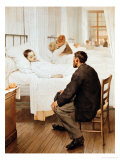 Visiting Day at the Hospital, 1889 Giclee Print by Jules Jean Geoffroy