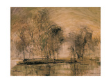 Willows in Morning Wind Giclée-tryk af Wanqi Zhang