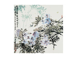 Blossoms and Bamboo Reproduction proc&#233;d&#233; gicl&#233;e par Wanqi Zhang