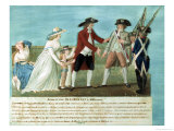 The Arrest of Louis XVI and His Family at Varennes, 21 June, 1791 Giclée-Druck von Le Sueur Brothers