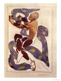L'Apres Midi d'Un Faune, Costume Design for Nijinsky (1890-1950) Giclée-trykk av Leon Bakst