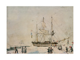 Ross Expedition, 1842 Giclee Print by John Edward Davis