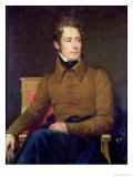 Portrait of Alphonse De Lamartine (1790-1869), 1831 Giclee Print by Francois Gerard