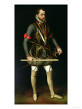 Philip II (1527-98) of Spain Giclée-Druck von Antonis Mor