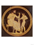 A Man Being Offered Food by a Boy, from a Red Figured Kylix from Vulci, Greek, Mid 5th Century BC Giclée-Druck