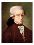 Portrait of Wolfgang Amadeus Mozart (1756-1791) after 1770 Giclée-Druck
