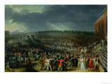 The Celebration of the Federation, Champs De Mars, Paris, 14 July 1790 Giclée-Druck von Charles Thevenin