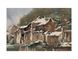Spring Snow Giclee Print by Wanqi Zhang