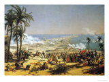 The Battle of Aboukir, 25th July 1799 Giclée-Druck von Louis Lejeune