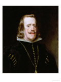 Philip IV (1605-65) of Spain, circa 1656 Giclee Print by Diego Velázquez