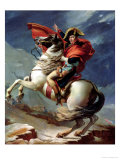 Napoleon on Horseback at the St. Bernard Pass Reproduction procédé giclée par Jacques-Louis David