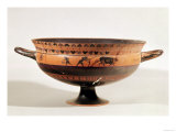 "Black Figured Kylix of Ritual Ploughing, Possibly a Scene from the ""Attic Thesmophoria"" Reproduction procédé giclée"