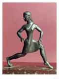 Figurine of a Girl Running Giclee Print