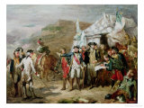 Sketch for the Battle of Yorktown, 1st to 17th October 1781, circa 1836 Giclee Print by Louis Charles Auguste Couder