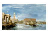 View of the Molo and the Palazzo Ducale in Venice Giclee Print by James Holland