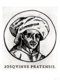 Josquin Des Pres (circa 1440-1521) Engraved from a Work in St. Gudule Cathedral, Brussels Giclee Print