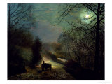 Forge Valley Giclee Print by John Atkinson Grimshaw